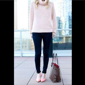 BANANA REPUBLIC Mixed-Stitch Turtleneck Sweater